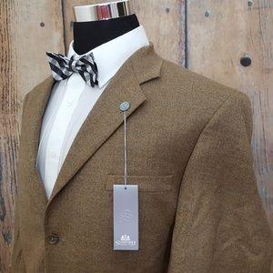 Stafford Sport Coat Mens 44L Cashmere Blend Brown